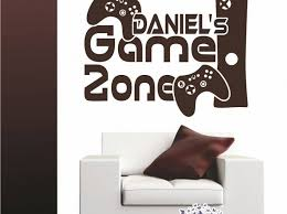 Personalized Gamer Wall Decal Tags Wall Decals Home Depot Coastal Peter Pan Art Video Game Philippines Quotes