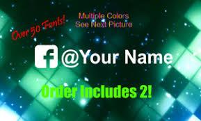 2x1 Custom Your Name Handle Fb Facebook Car Window Jdm Vinyl Decal Sticker Ebay