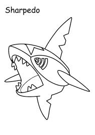 Kleuren Nu Pokemon Sharpedo Kleurplaten