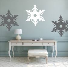 Snowflake Wall Decal Christmas Decals Self Adhesive Snowflake Wall And Window Murals Holiday Murals Trendy Wall Designs