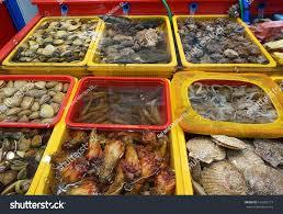 Fresh Seafood Market South Korea Stock ...