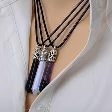 docona natural quartz pendant stone