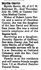 Myrtle Jones obit - Newspapers.com