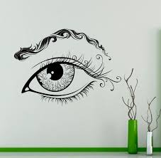 Eye Eyebrows Wall Vinyl Decal Eyelashes Wall Sticker Makeup Beauty Salon Interior Bedroom Decor Wall Design 6 Eye Adesivos