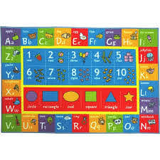 Kc Cubs Multi Color Kids And Children Bedroom Abc Alphabet Numbers And Shapes Educational Learning 5 Ft X 7 Ft Area Rug Kcp010003 5x7 The Home Depot