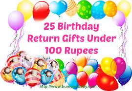 25 birthday return gifts under 100 rus