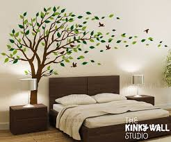 Blowing Tree Wall Decal Bedroom Wall Decals Wall Sticker Vinyl Art Wall Design Tree Wall Decal Living Room Wall Stickers Home Decor Wall Decals Living Room