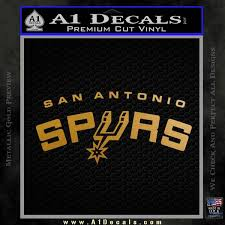 San Antonio Spurs Decal Sticker Stacked A1 Decals