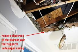 how to replace ceiling sheetrock