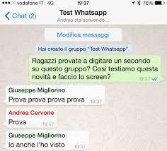 Ora nei gruppi di WhatsApp è possibile vedere chi sta scrivendo ...