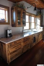rustic wood kitchen cabinets beautiful