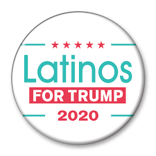 Latinos For Trump 2020 Campaign Pinback Button Dt 257