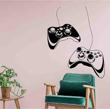Amazon Com Controllers Video Game Gaming Personalised Gamer Tag Vinyl Sticker Decal Room Decor Wall Art Mural Home Decoration Bedroom Designs 15 Arts Crafts Sewing