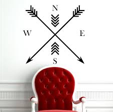 Arrows Compass North East South West Wall Decals Arrow Tribal Wall Decor Minimalist Art For Office Bedroom Decor C036 Buy Online In Botswana Fabwalldecals Products In Botswana See Prices