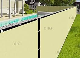 Amazon Com Diig Fence Privacy Screen 6 X 50 Heavy Duty Mesh Fence Shade Net Windscreen Fabric For Outdoor Patio Backyard Deck 90 Visibility Blockage 3 Years Warranty Garden Outdoor