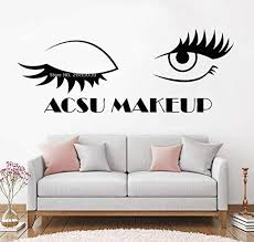 Amazon Com Iofjs Makeup Eyelash Decals Art Studio Eyelashes Wall Decal Window Stickers Beauty Salon Woman Lashes Brows Posters 100 42cm Home Kitchen