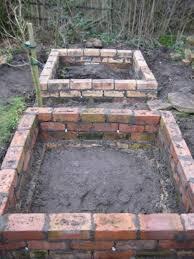 diy brick raised garden beds durable