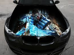 Vinyl Car Hood Wrap Full Color Graphics Decal Mortal Kombat Sub Zero Sticker Ebay