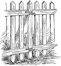 Picket Fence Clipart Etc Picket Fence White Picket Fence Fence