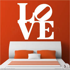 Oversized Love Pop Art Wall Decal Interior Wall Decor By Etsy