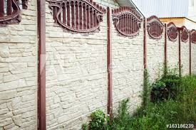Beautiful Concrete Fence Of Modern Style Design Fence Ideas Buy This Stock Photo And Explore Similar Images At Adobe Stock Adobe Stock