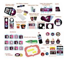 Kit Imprimible Monster High Invitaciones Candy Deco Torta