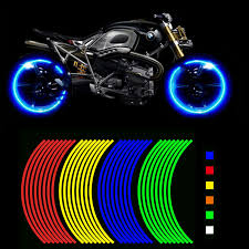 Big Offer Efcb Motorcycle Styling Wheel Hub Rim Stripe Reflective Decal Stickers Safety Reflector For Yamaha Cicig Co