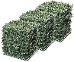 Amazon Com Yescom 24 Pack 10 X10 Artificial Boxwood Hedge Mat With Cable Ties Uv Privacy Fence Screen Greenery Panel Outdoor Decor Garden Outdoor