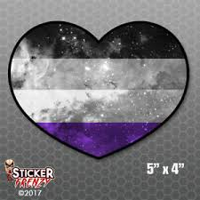 Asexual Flag Pride Nebula Heart Bumper Sticker Car Decal Ace Aro Space Gift Love Ebay
