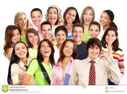 Gente sorridente felice immagine stock. Immagine di ritratto - 7036953
