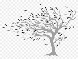 Windy Tree Wall Sticker Simple Design Wall Painting Free Transparent Png Clipart Images Download
