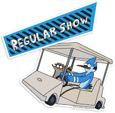 Amazon Com Popfunk Regular Show Golf Cart And Logo Collectible Stickers Home Kitchen