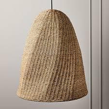 palma woven pendant light reviews cb2