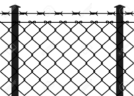Wire Fence With Barbed Wires Vector Illustration Royalty Free Cliparts Vectors And Stock Illustration Image 12307750