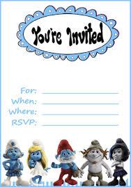 Smurfs Invitation Pitufos Y Abecedario