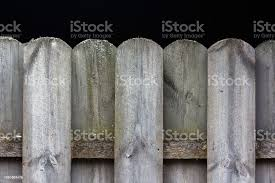 Detail Of Wooden Fence Tops Pattern With Black Background And Space For Text Stock Photo Download Image Now Istock