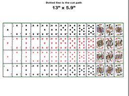 Poker Playing Cards Vinyl Outdoor Car Sticker Sheet Full Deck Empire Tactical Usa