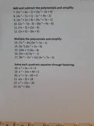 subtract the polynomials and simplify