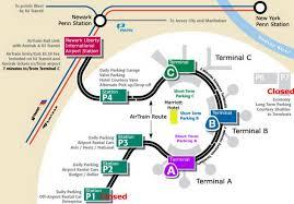 airport parking map newark airport