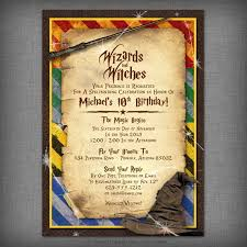 Harry Potter Inspired Witches Wizards Printable Invitation