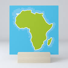 Map Of Africa Continent And Blue Ocean Vector Illustration Mini Art Print By Ekaterinap Society6