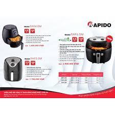 Nồi chiên không dầu RAPIDO RAF5.0M dung tích 5L công suất 1500W ...