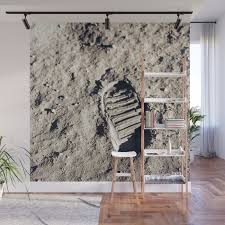 one giant leap for mankind wall mural