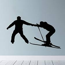 Amazon Com Skiing Wall Decal Ski Vinyl Stickers Ski Decal Skier Decal Ski Lift Winter Sport Art Decal Ski Jumping Freestyle Extreme Sports 656u Home Kitchen