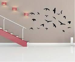 Flock Of Birds 20 Bird Set 1 4 Vinyl Wall Decal Home Decor Wall Mural Ebay