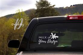 Window Decal Mockup Mock Up Truck Car Suv Rear Window Etsy