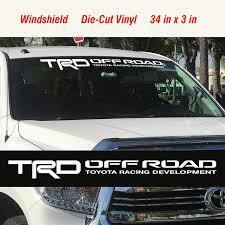 Toyota Trd Off Road Racing Tacoma Tundra Windshield Vinyl Etsy