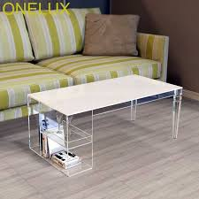 tapered legs acrylic coffee table