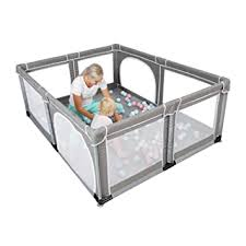 Amazon Com Yobest Baby Playpen Extra Large Playpen For Tndoor Outdoor Kids Activity Center With Gate Sturdy Safetoddlers Iy Baby Play Yard Fence Baby Fence Play Area For Babies Toddler Infants