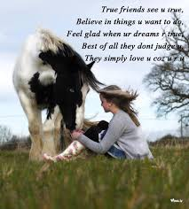true friendship natural girl and horse